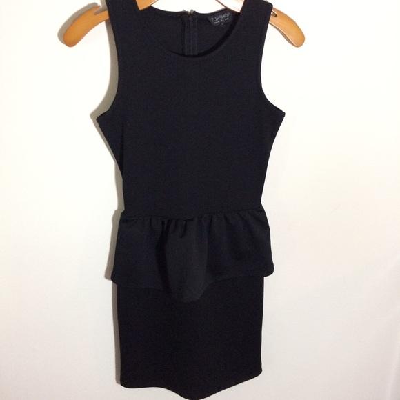 Topshop Dresses Black Peplum Dress Poshmark